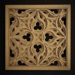 Wooden 3D picture - Gothic 1